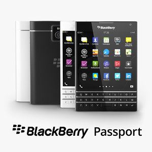 3d model blackberry passport black