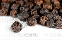 Black pepper on a white background