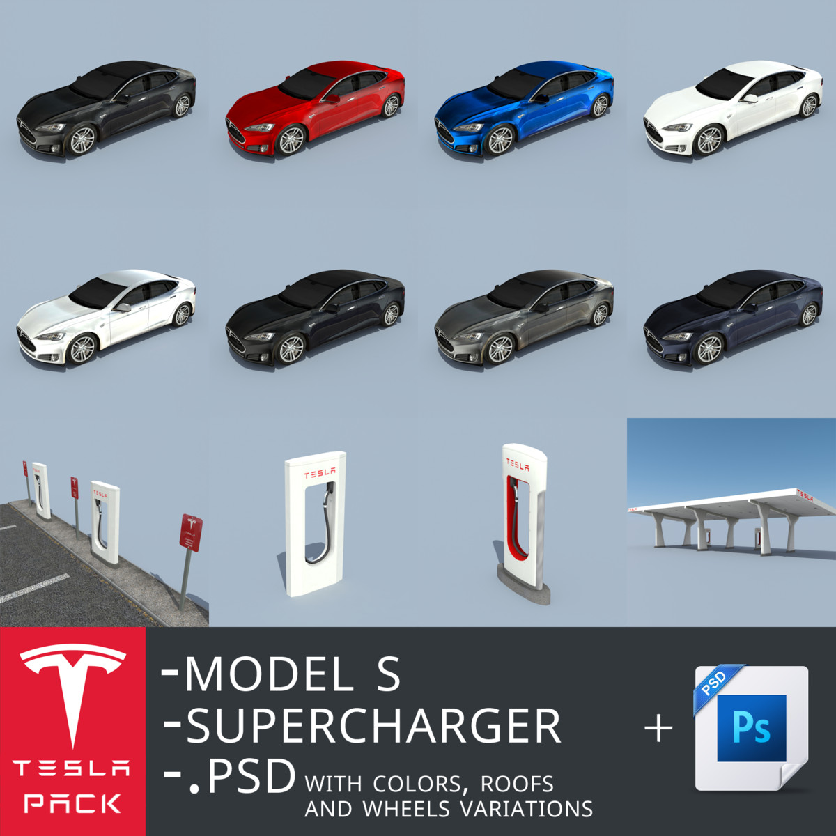 pack s superchargers 3d model