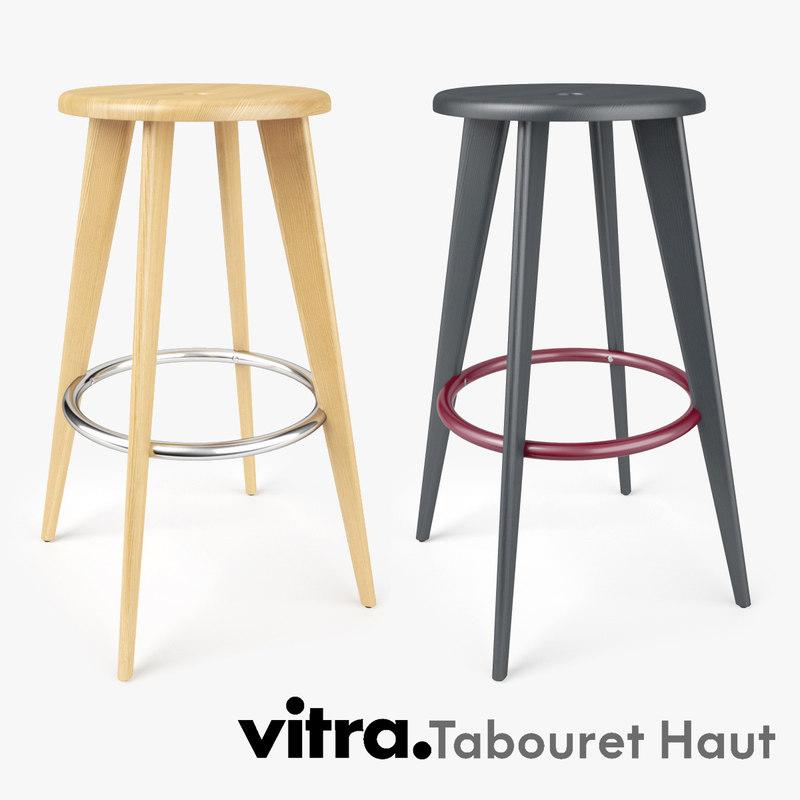 3d vitra tabouret haut bar stool model