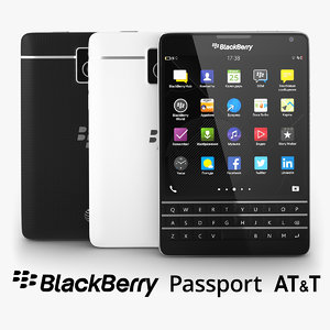 3d model of blackberry passport t black