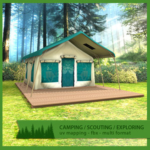 camping lodge tent 3d 3ds