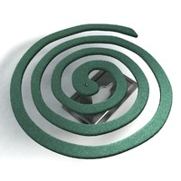 3d model mosquito coil