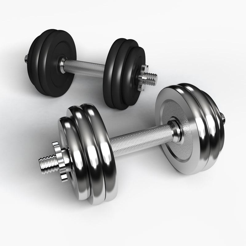 dumbbell weight equipment 3d model