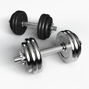 dumbbell weight equipment 3d model