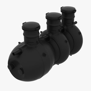 plastic septic tank 3d model