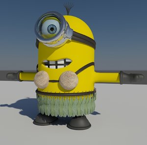 hula minion 3d 3ds