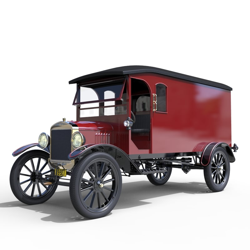 automobile t tt van 3d model