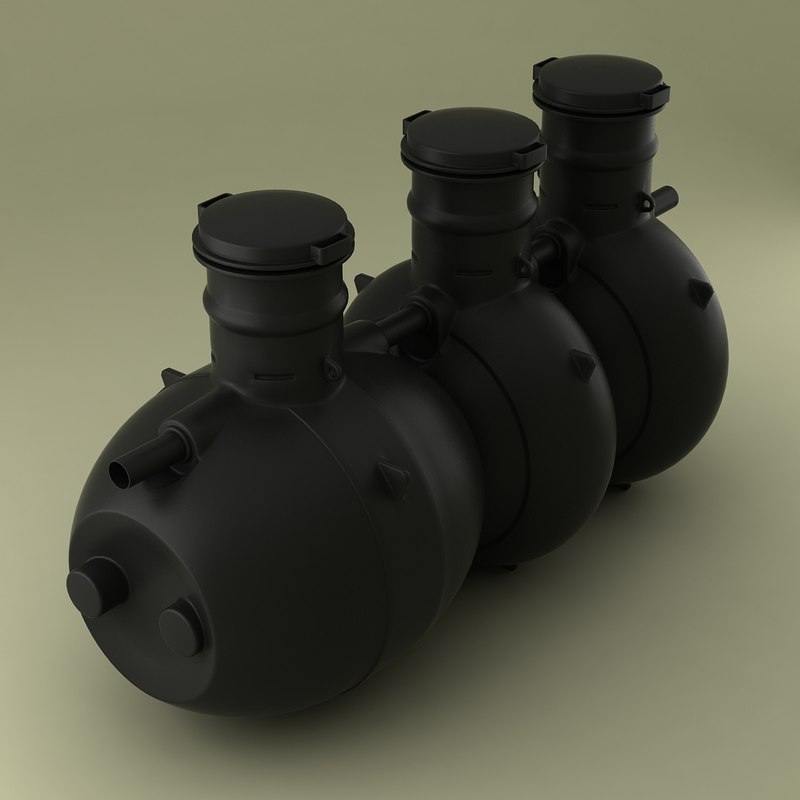 plastic septic tank 3d model