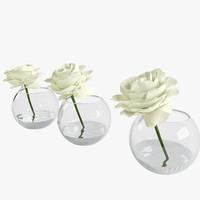 max roses white glass vessel