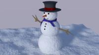 snowman blender 3d 3ds