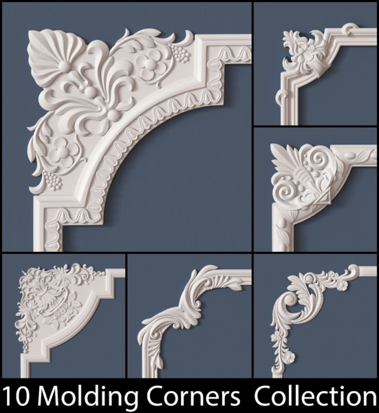 molding corner 3d max