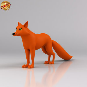 cartoon fox 3d x