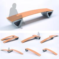 free obj model park bench
