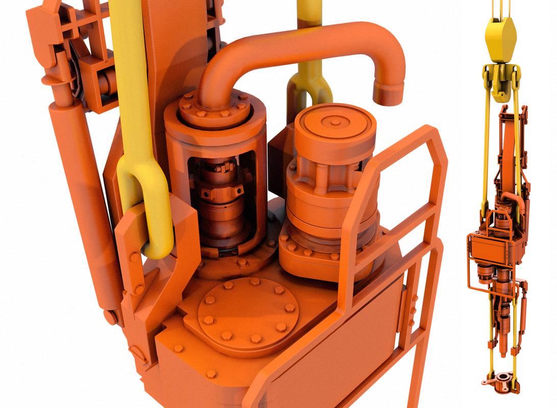 3d model derrick drive