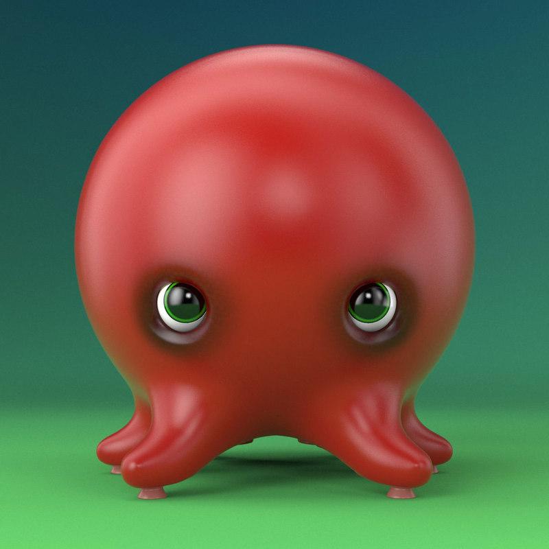 free octopus 3d model