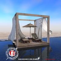 3d model gazebo pool