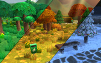 cartoon park constructor low-poly trees 3d x
