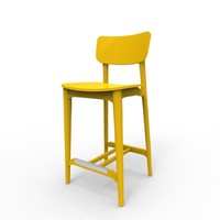 cacao barstool 3d model