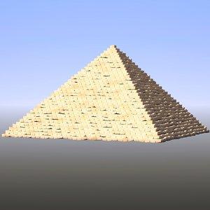 step pyramid 3d model