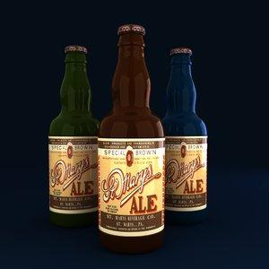 beer bottles 3d model