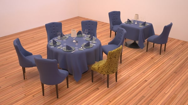 3d set table