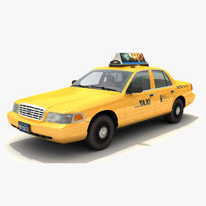 3d taxi car victoria crown