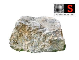 jurassic rock scanned 8k 3d model