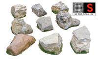 jurassic rock pack 9 3d model
