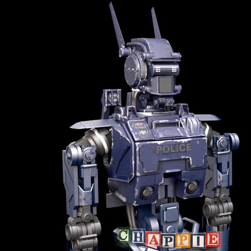 3d max chappie sci-fi movie