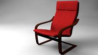 3d model armchair ikea