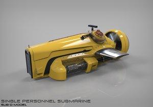 submarine sdv swimmer delivery 3d fbx