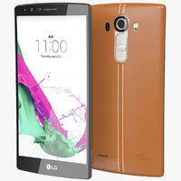 3d realistic lg g4 leather model
