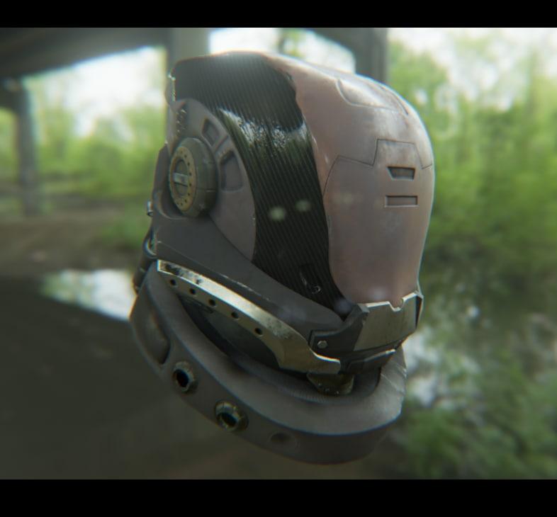 ready sci fi helmet 3d obj