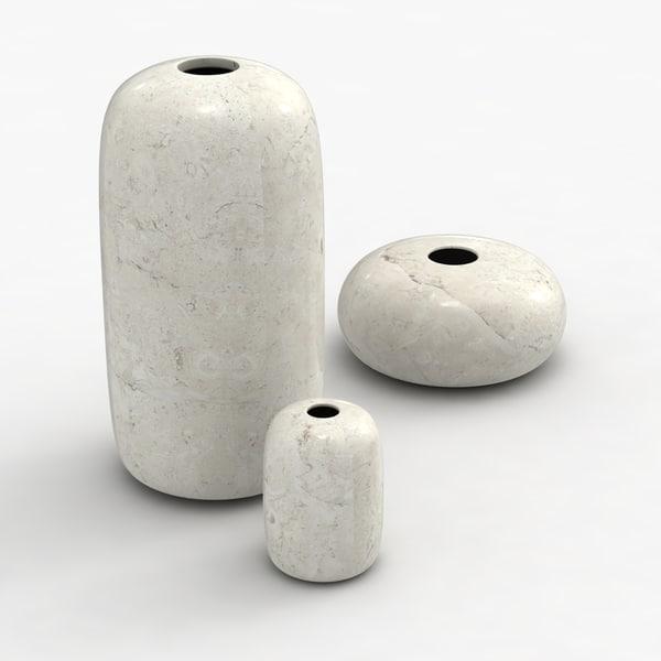 modern vases 3d max