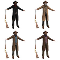 pack cowboy 3d model