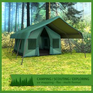 3d model of camping tent