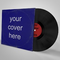 cinema4d lp vinyl cover