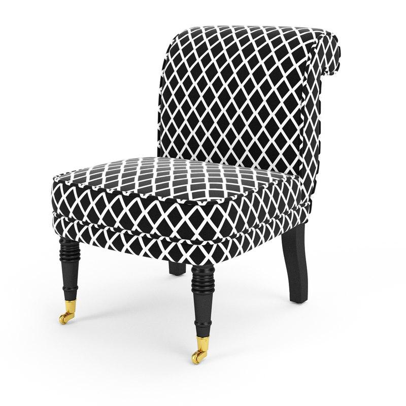 classic armchair berceau eichholtz 3d model