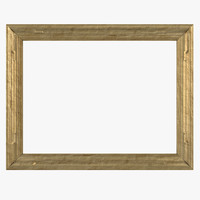 3d model gilt painting picture frame