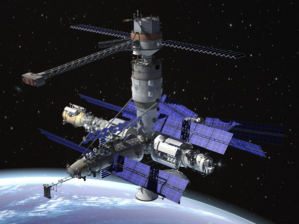 3d station space complex model