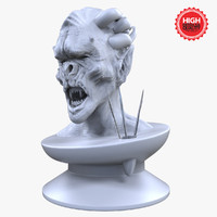 3ds max statue creature head sculpted