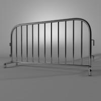 metal road block 3d model