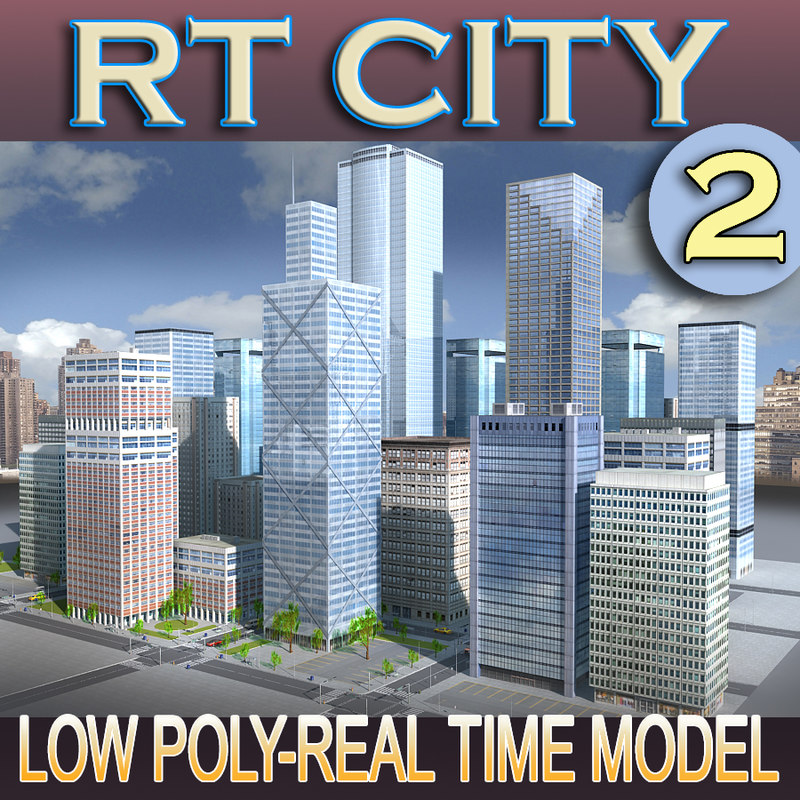 3d model city building new york