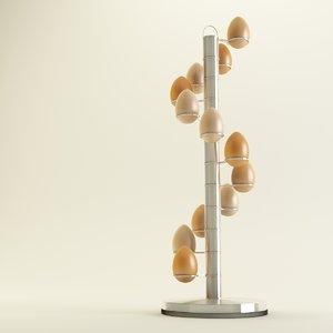 3d spiral egg holder model