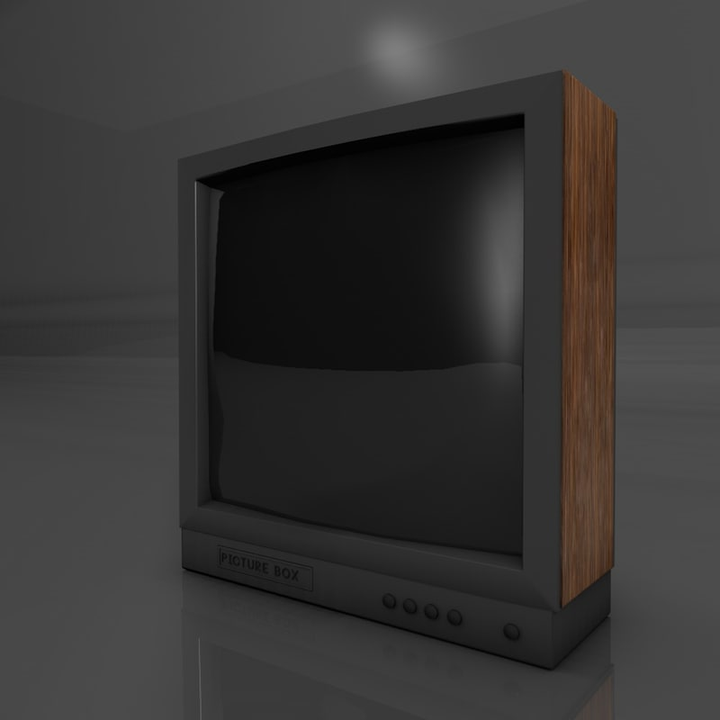 old tv 3d obj