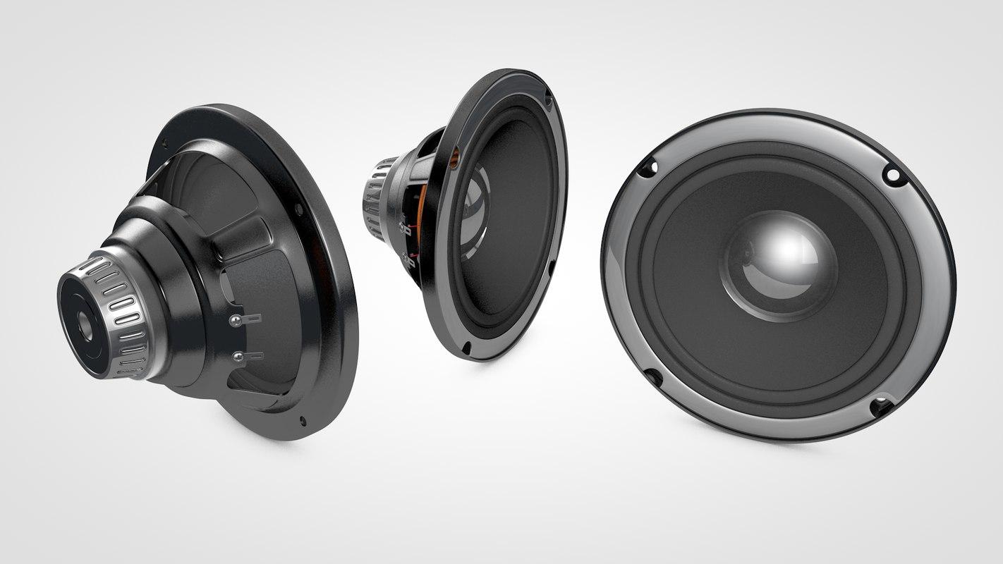 speaker 3d c4d