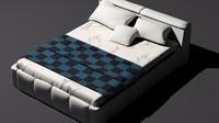 modern bed 3d obj