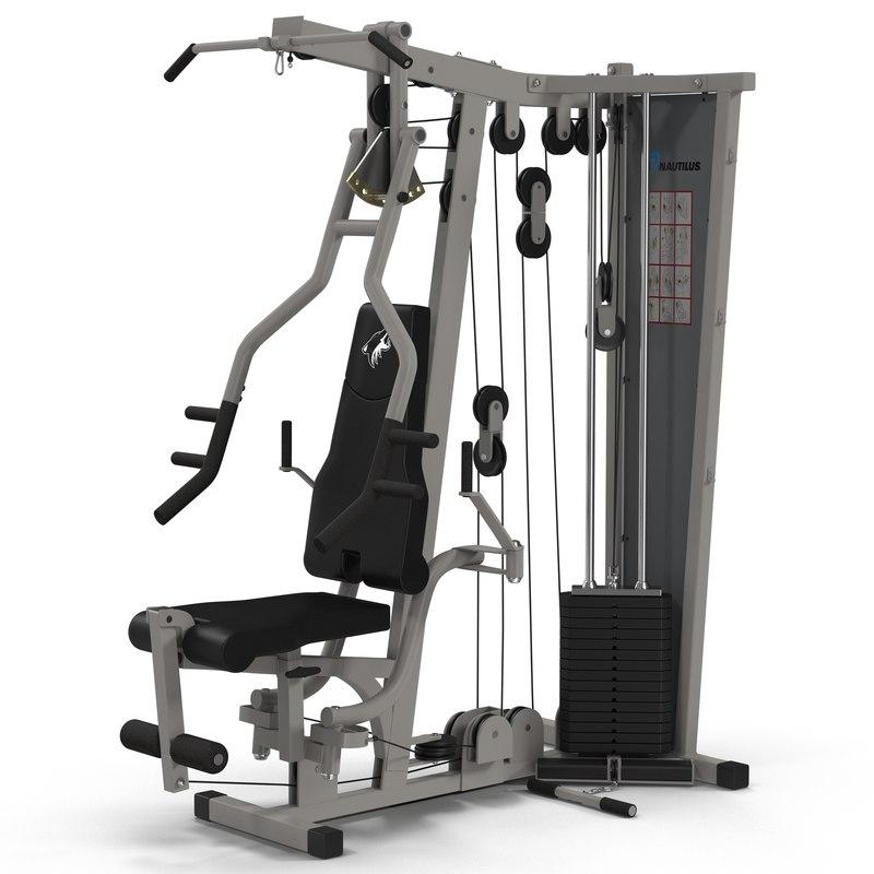 3d model weight machine modeled