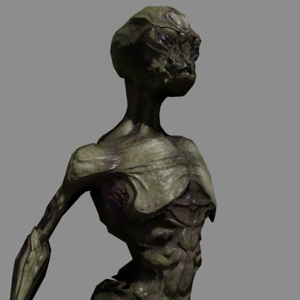 realistic alien 3d model